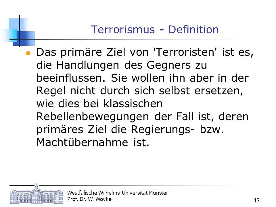 Terrorismus - Definition