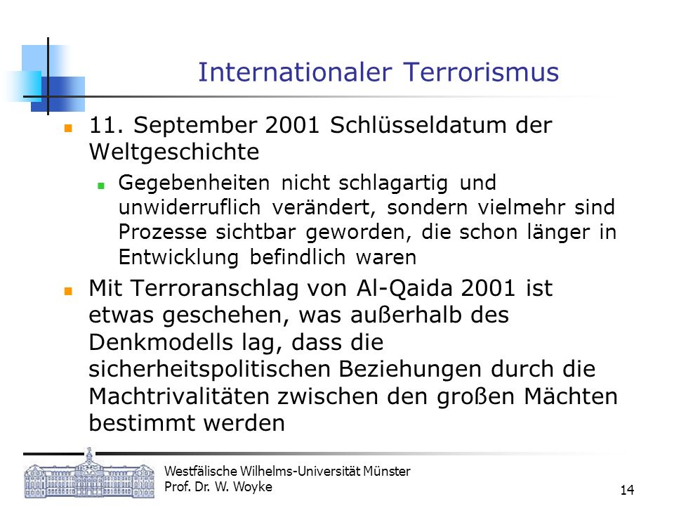 Internationaler Terrorismus
