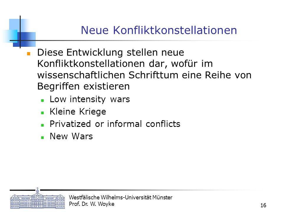 Neue Konfliktkonstellationen