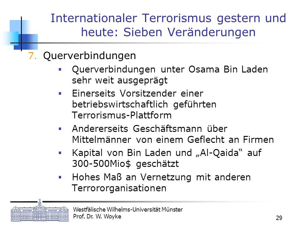 Internationaler Terrorismus gestern und heute: Sieben Veränderungen