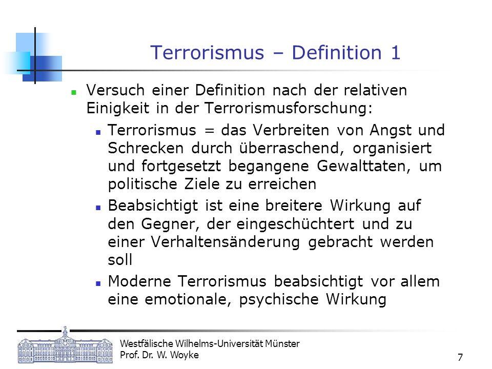 Terrorismus – Definition 1