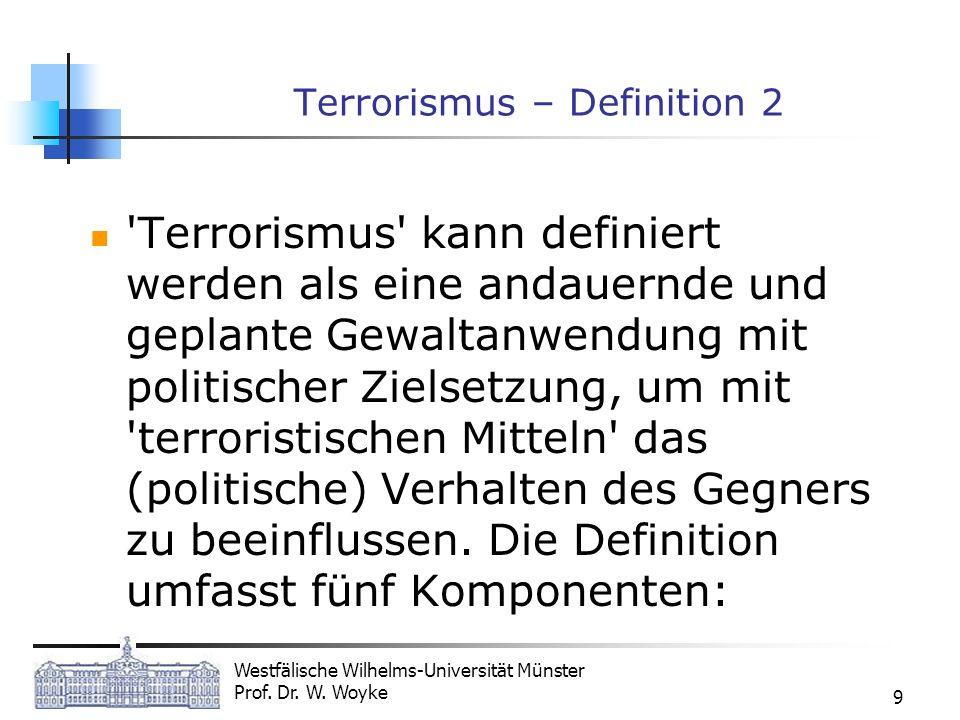 Terrorismus – Definition 2