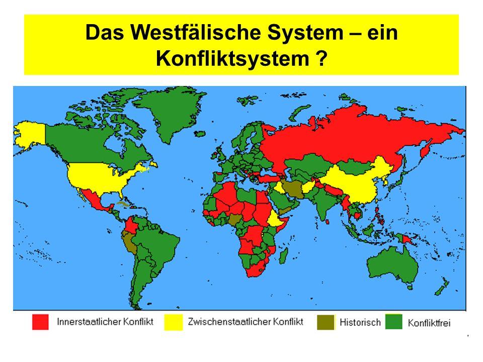 Das Westfälische System – ein Konfliktsystem