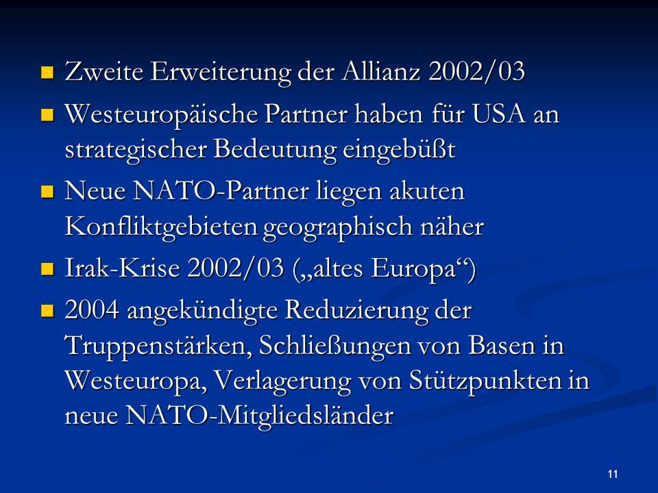 Zweite Erweiterung der Allianz 2002/03