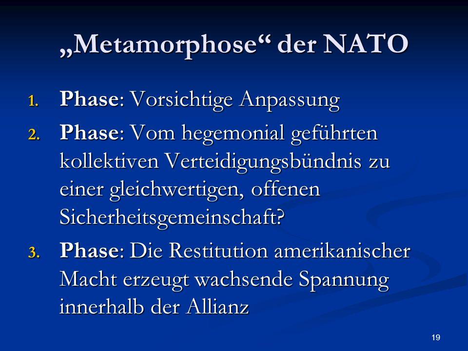 """""""Metamorphose der NATO"""