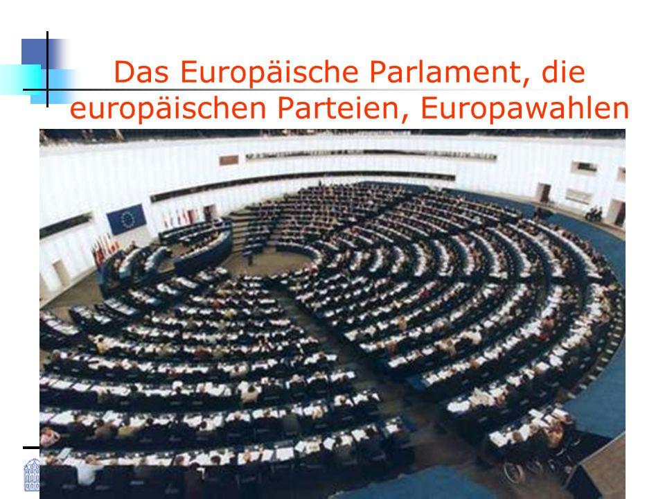 Das Europäische Parlament, die europäischen Parteien, Europawahlen