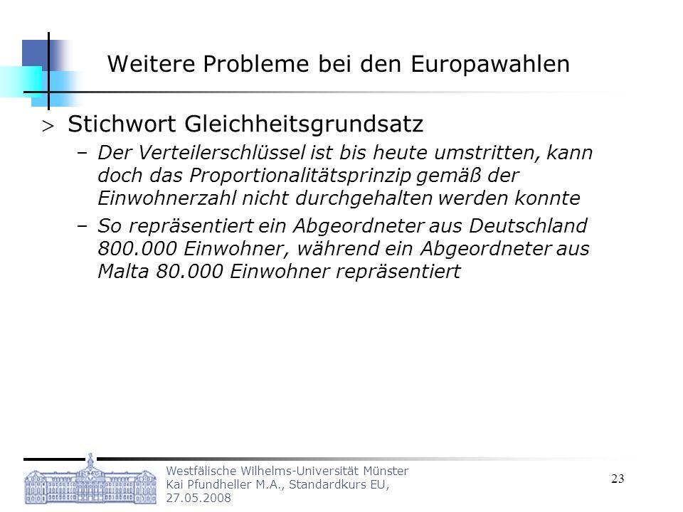 Weitere Probleme bei den Europawahlen