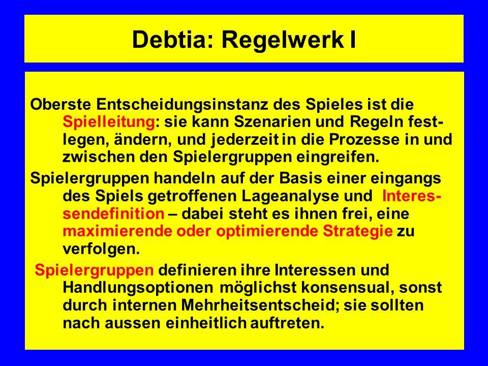 Debtia: Regelwerk I