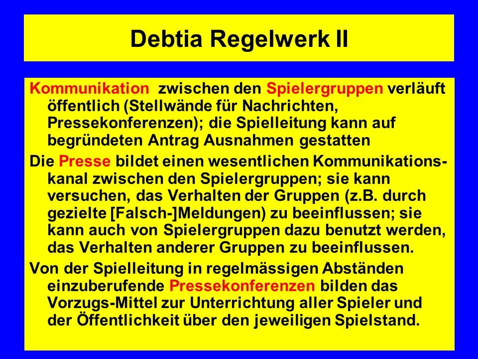Debtia Regelwerk II