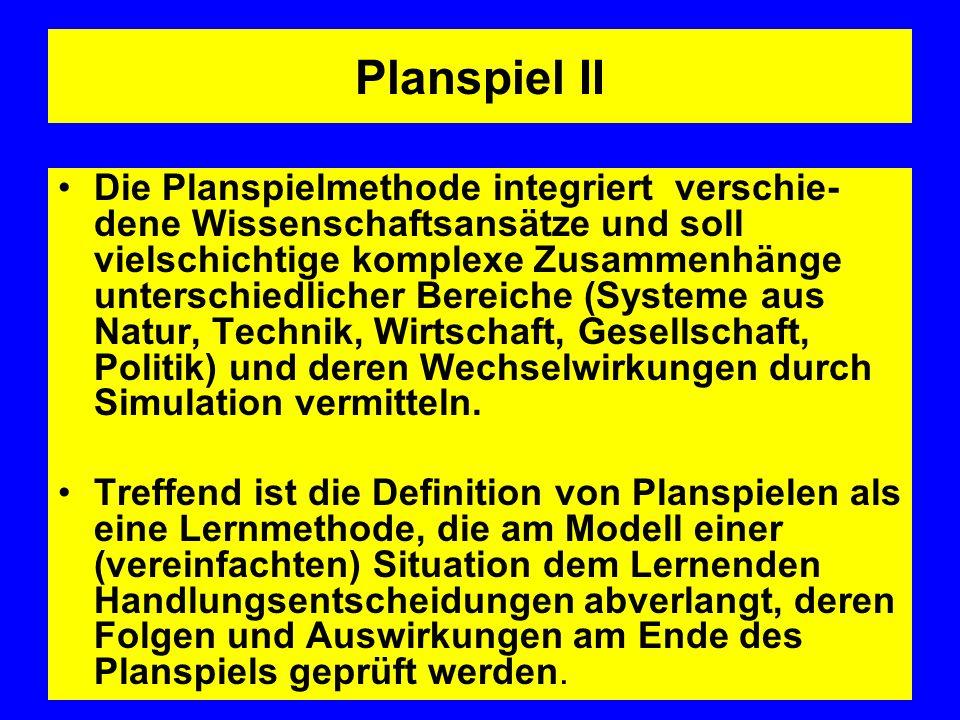 Planspiel II