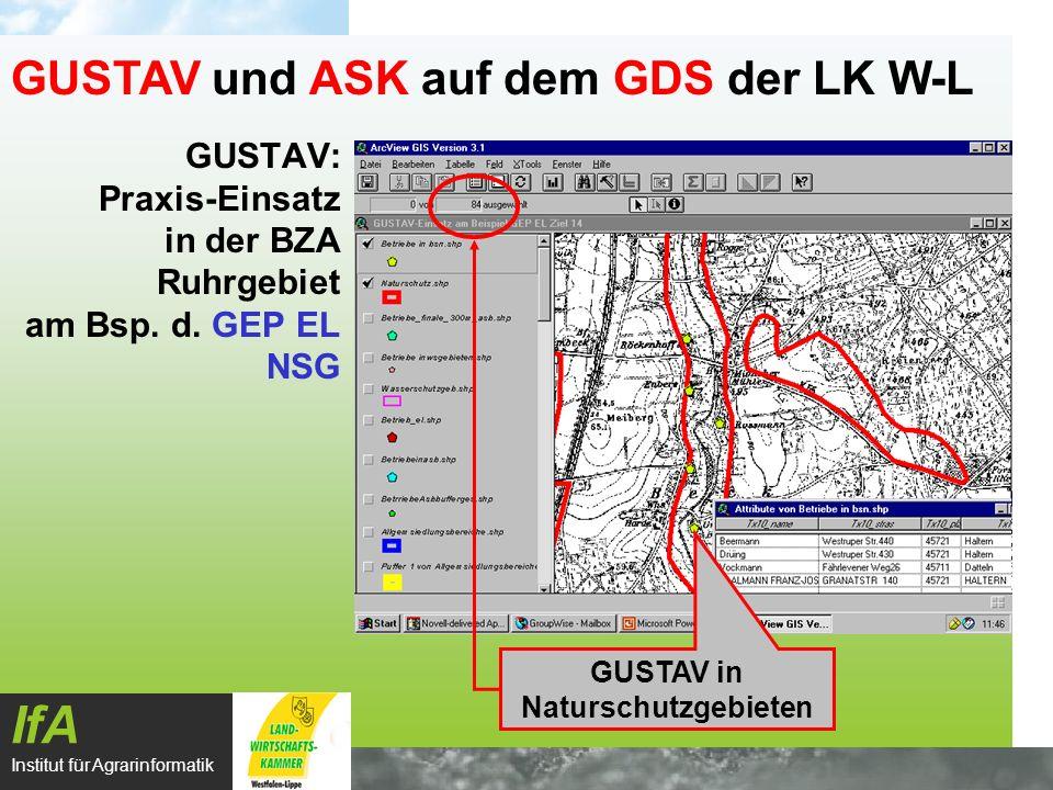 GUSTAV: Praxis-Einsatz in der BZA Ruhrgebiet am Bsp. d. GEP EL NSG