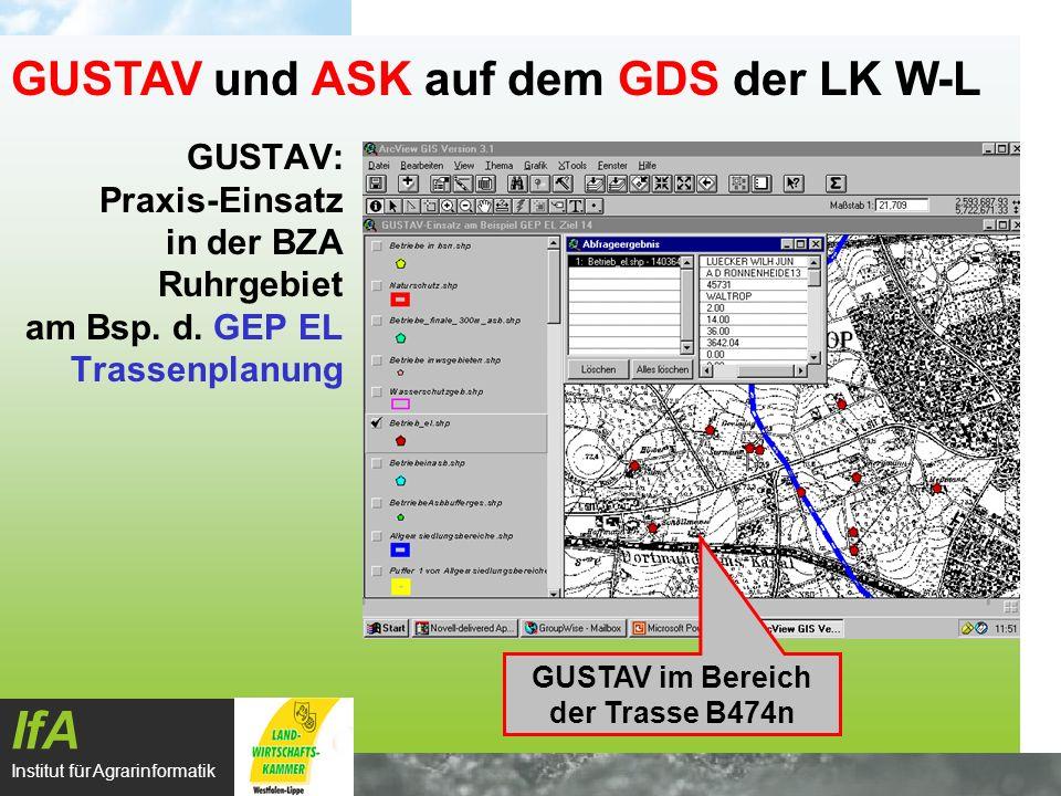 GUSTAV im Bereich der Trasse B474n