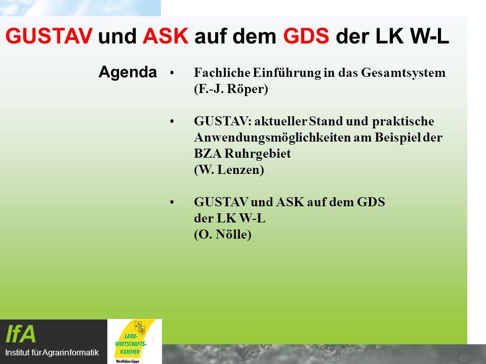 IfA GUSTAV und ASK auf dem GDS der LK W-L Agenda