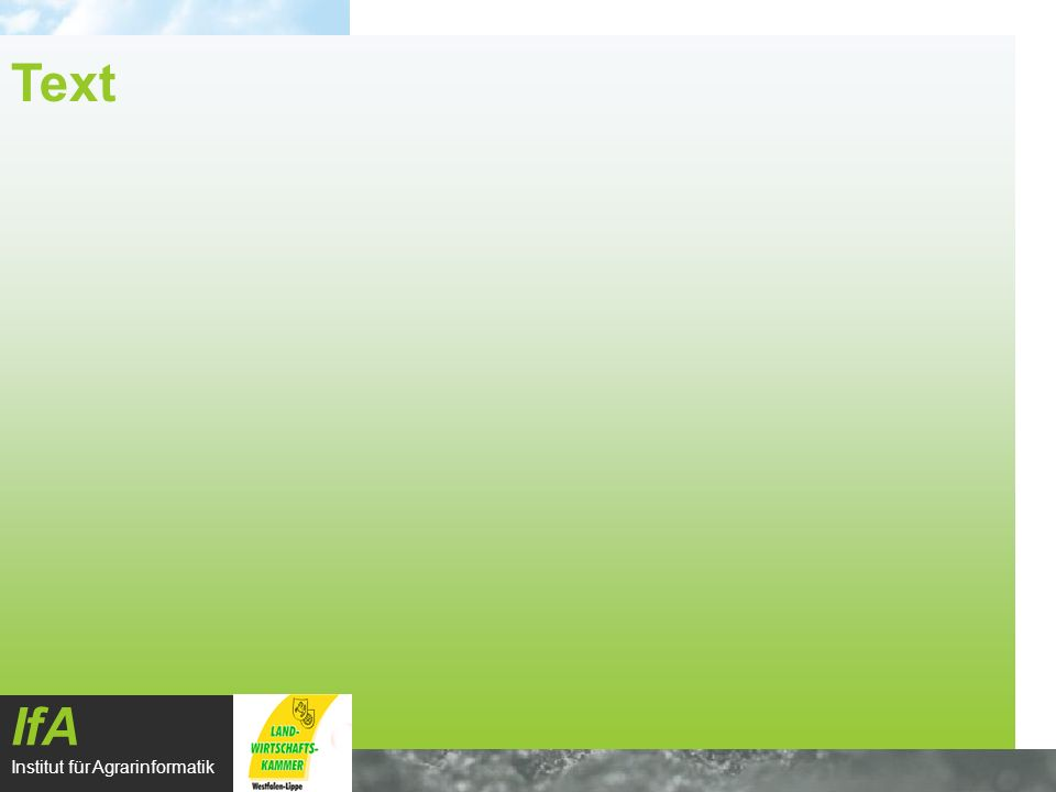 Text IfA Institut für Agrarinformatik