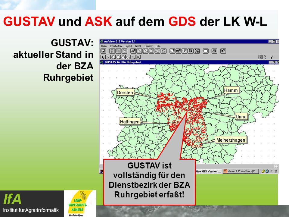 GUSTAV: aktueller Stand in der BZA Ruhrgebiet