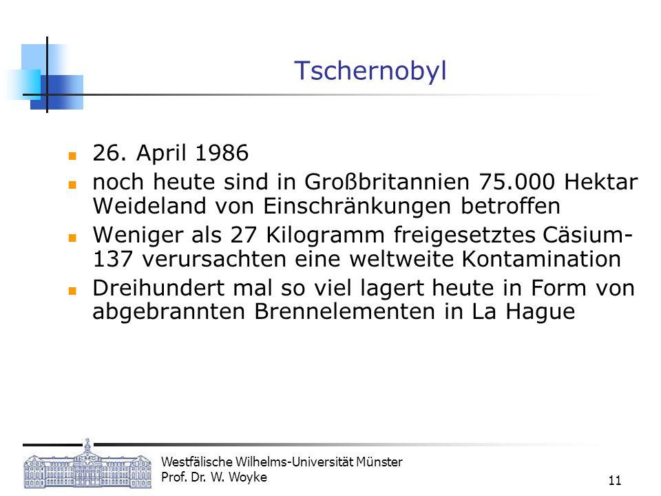 Tschernobyl 26. April 1986. noch heute sind in Großbritannien 75.000 Hektar Weideland von Einschränkungen betroffen.