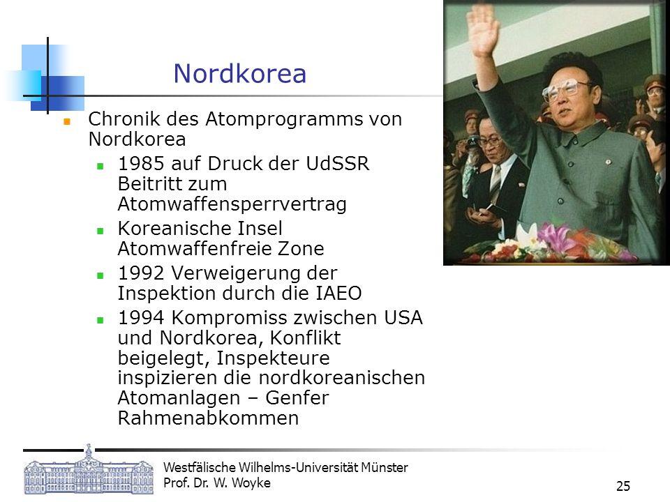 Nordkorea Chronik des Atomprogramms von Nordkorea
