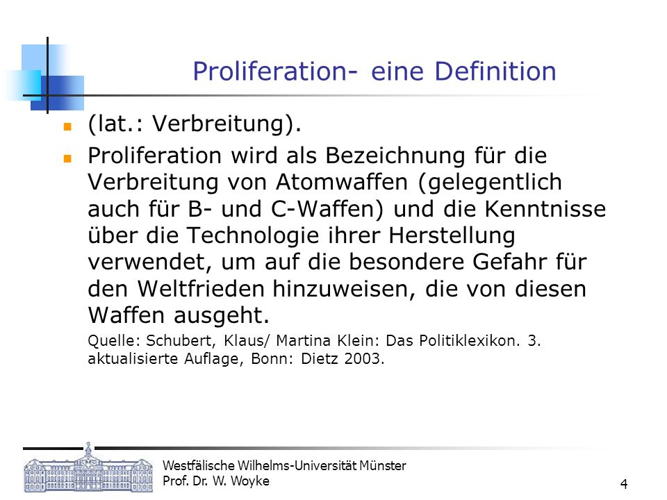 Proliferation- eine Definition