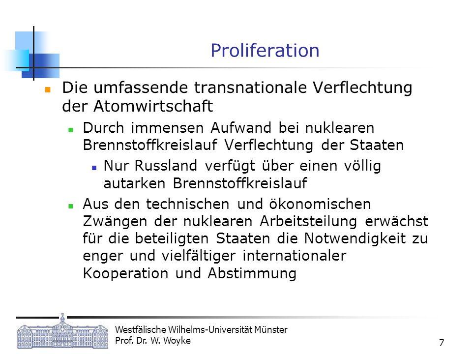 Proliferation Die umfassende transnationale Verflechtung der Atomwirtschaft.