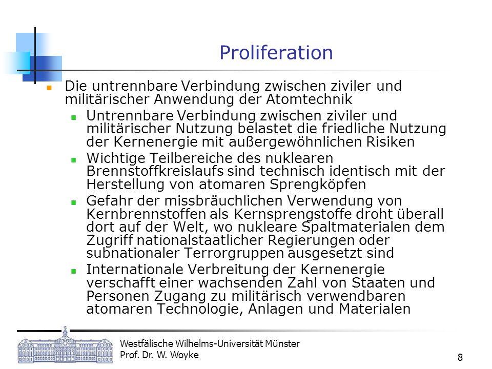 Proliferation Die untrennbare Verbindung zwischen ziviler und militärischer Anwendung der Atomtechnik.