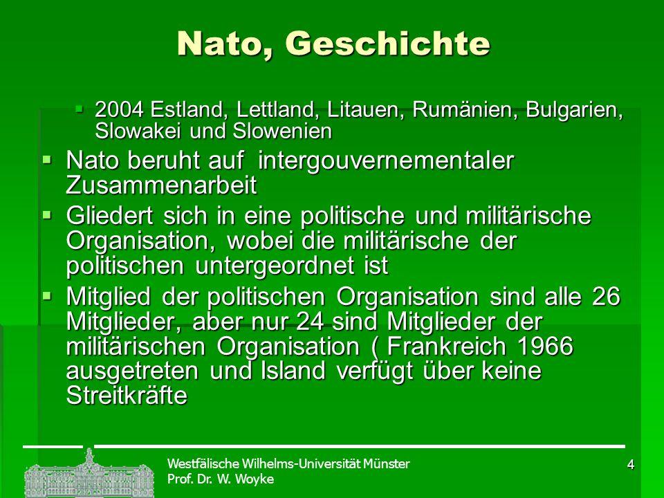Nato, Geschichte Nato beruht auf intergouvernementaler Zusammenarbeit