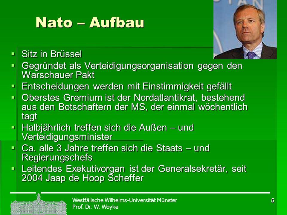 Nato – Aufbau Sitz in Brüssel