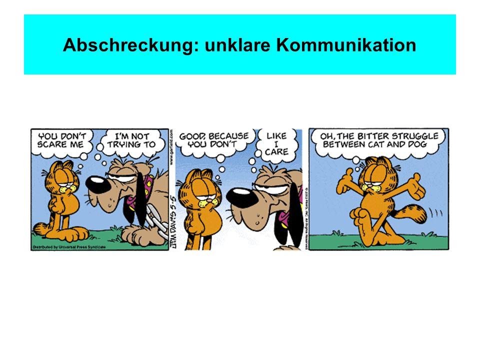 Abschreckung: unklare Kommunikation