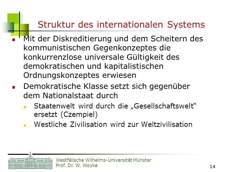 Struktur des internationalen Systems