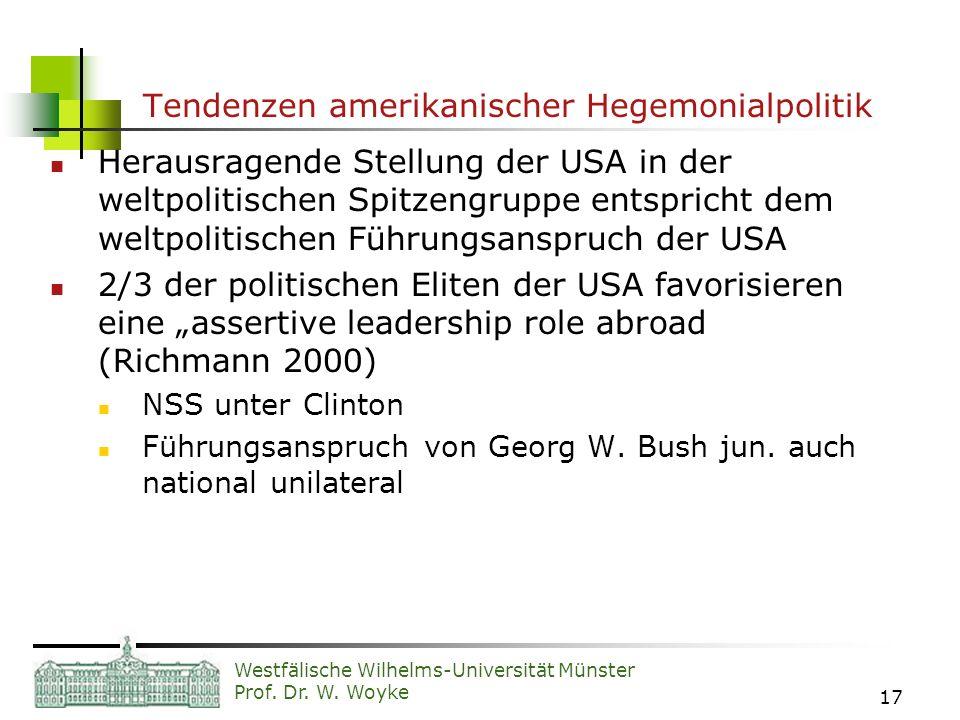 Tendenzen amerikanischer Hegemonialpolitik