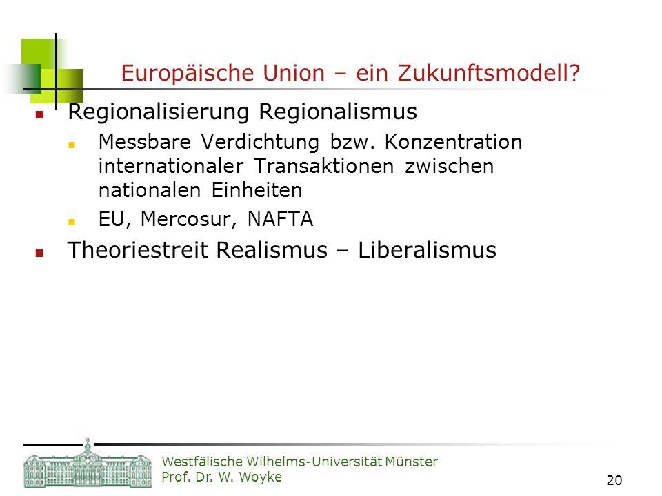 Europäische Union – ein Zukunftsmodell