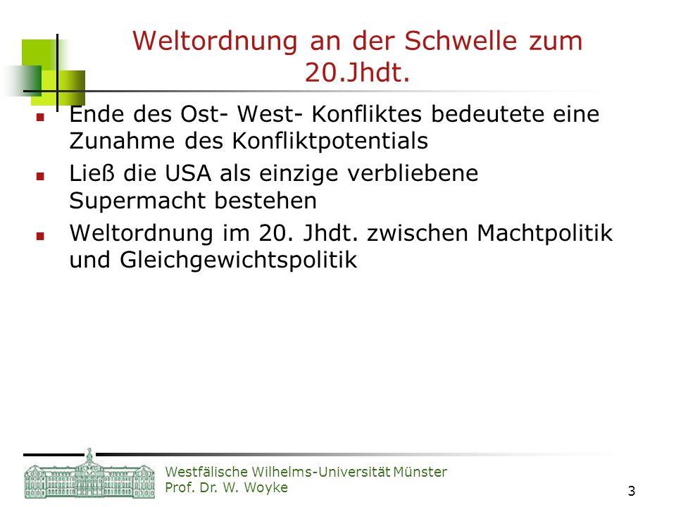 Weltordnung an der Schwelle zum 20.Jhdt.