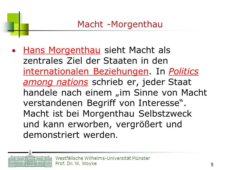 Macht -Morgenthau