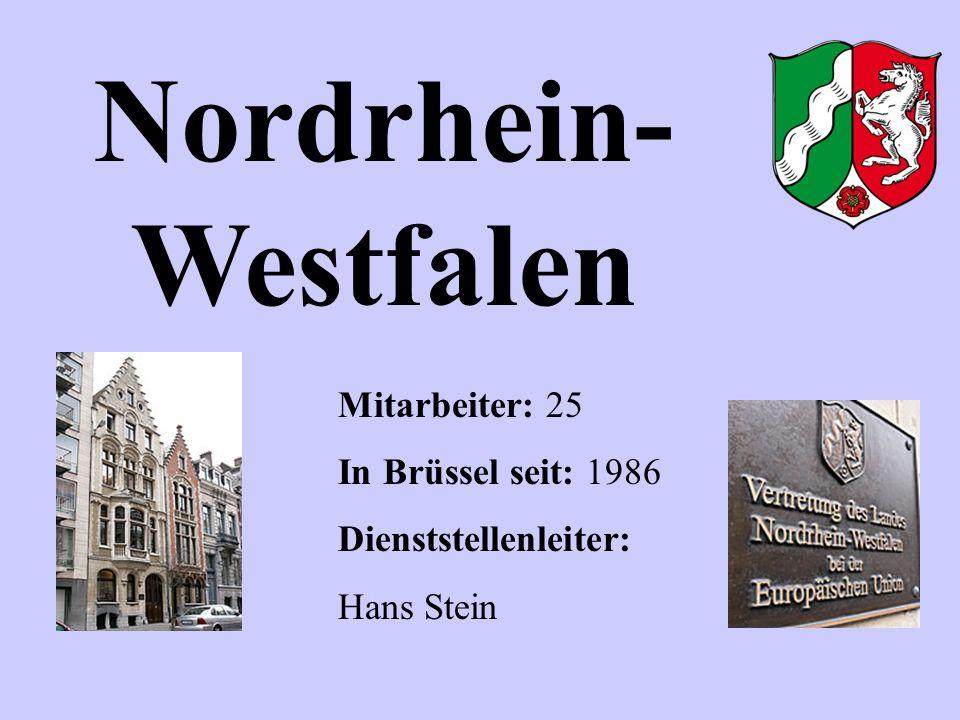 Nordrhein-Westfalen Mitarbeiter: 25 In Brüssel seit: 1986