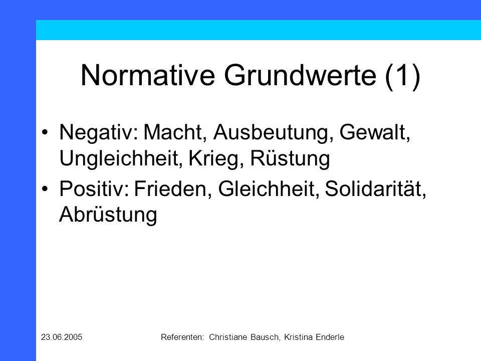 Normative Grundwerte (1)