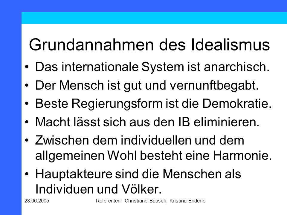 Grundannahmen des Idealismus