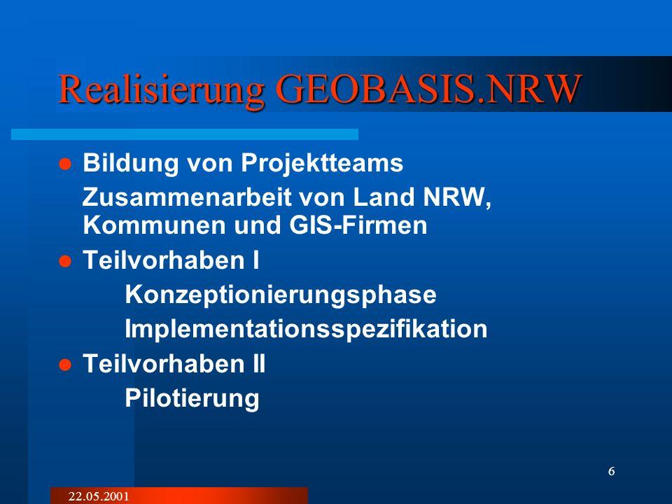 Realisierung GEOBASIS.NRW