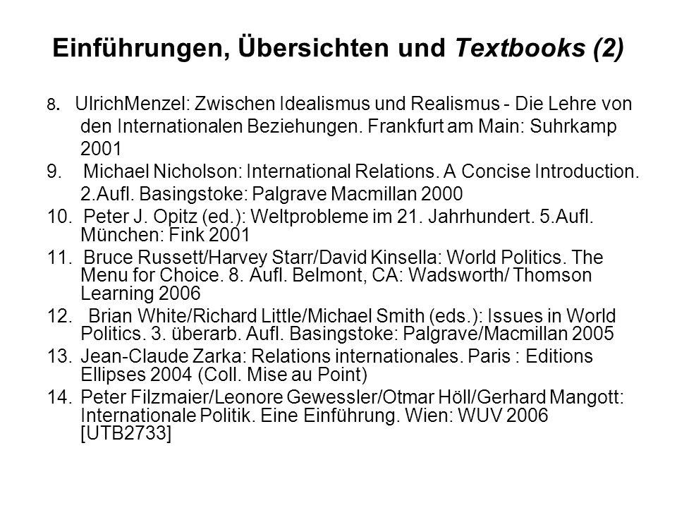 Einführungen, Übersichten und Textbooks (2)