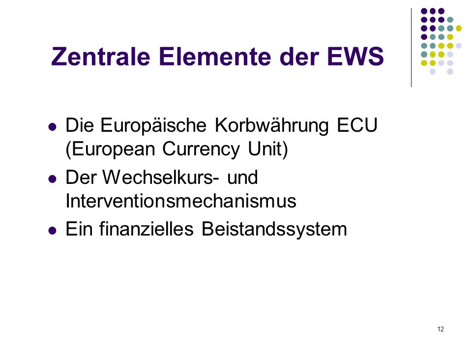 Zentrale Elemente der EWS