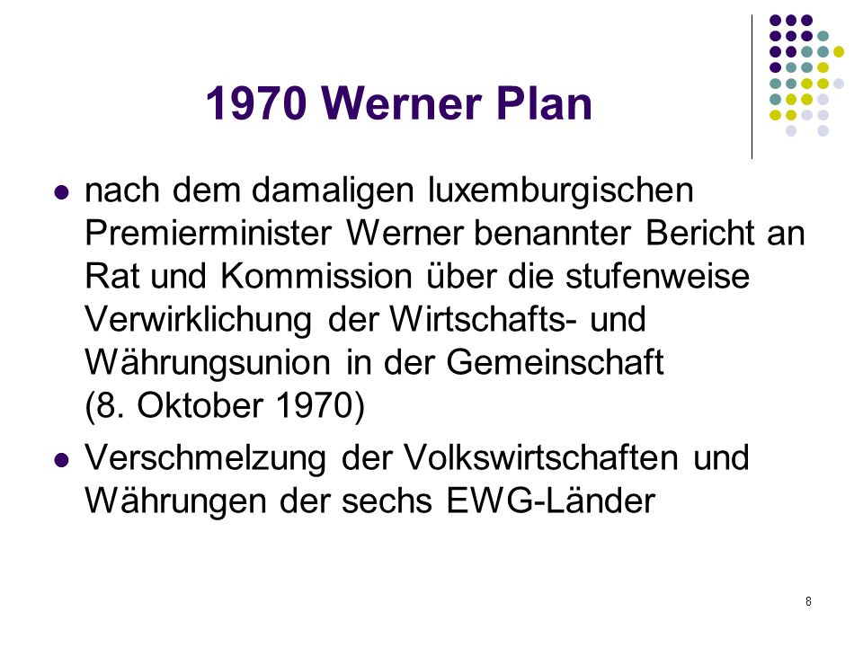 1970 Werner Plan