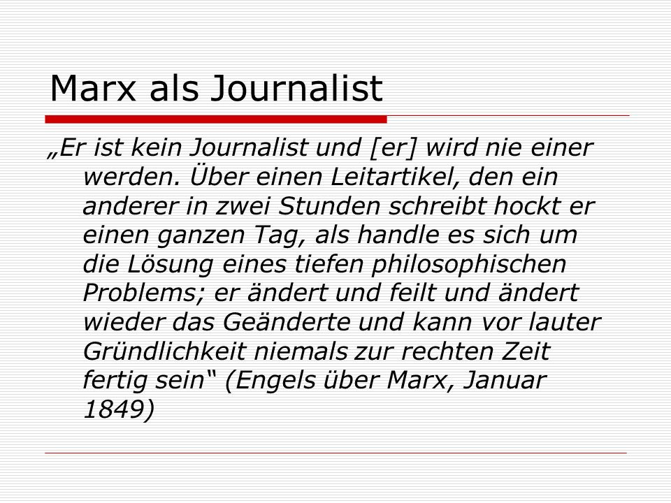 Marx als Journalist