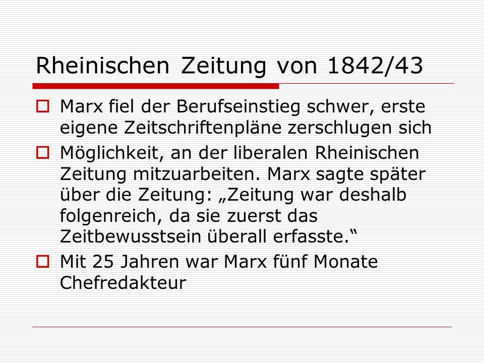 Rheinischen Zeitung von 1842/43