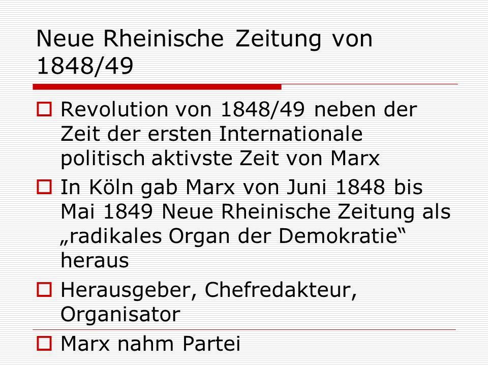 Neue Rheinische Zeitung von 1848/49