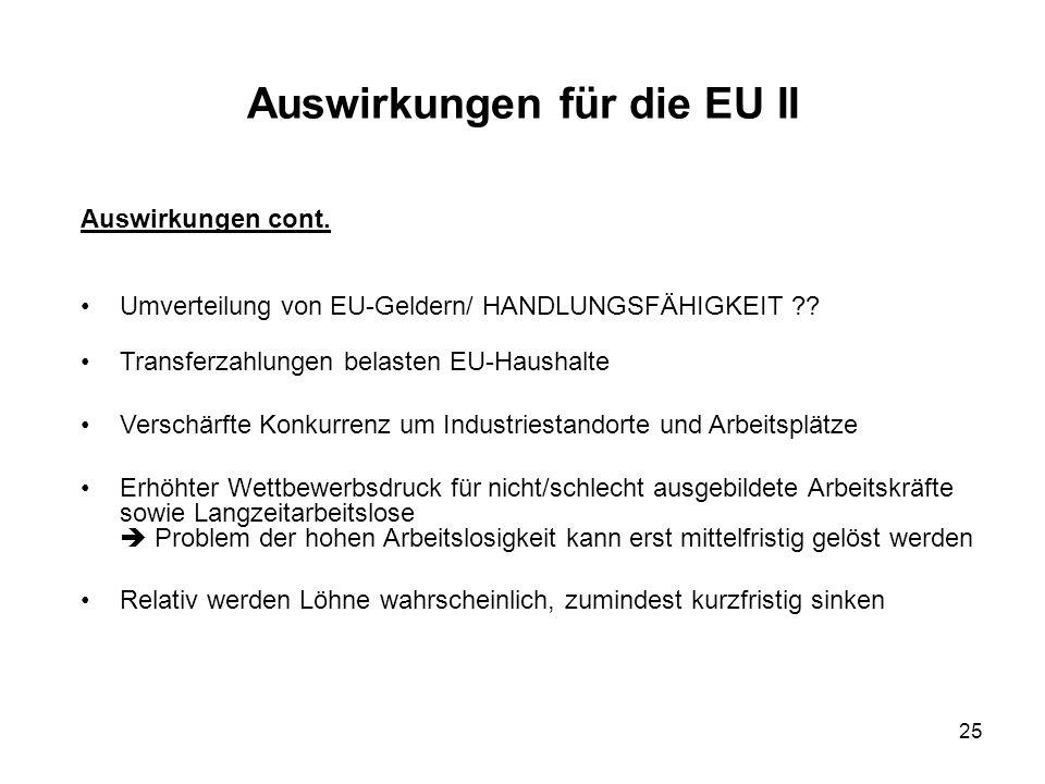 Auswirkungen für die EU II