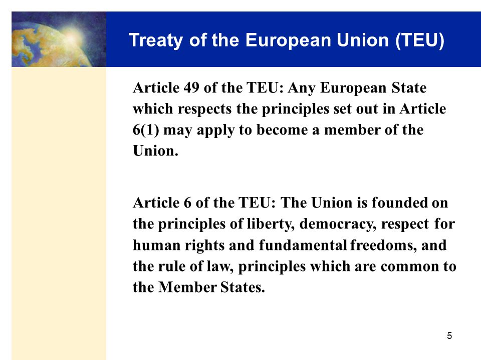 Treaty of the European Union (TEU)