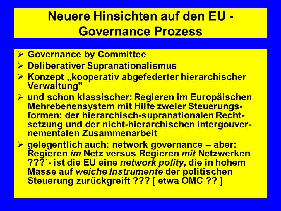 Neuere Hinsichten auf den EU -Governance Prozess