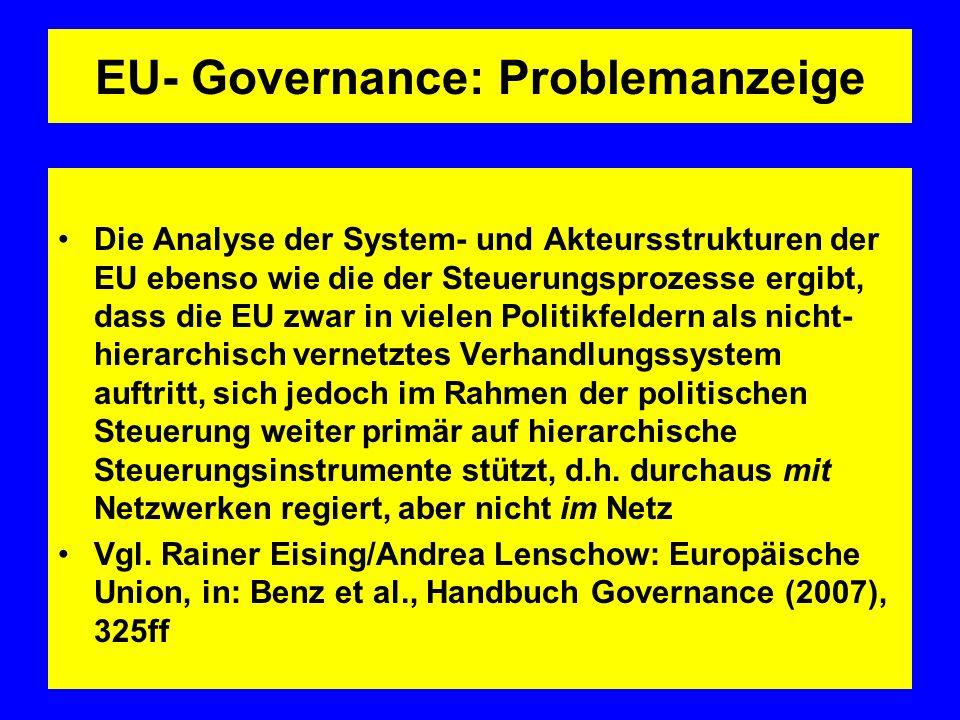 EU- Governance: Problemanzeige