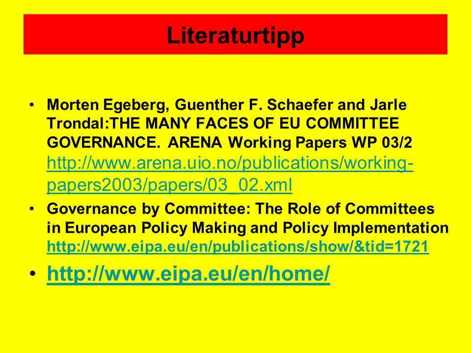 Literaturtipp http://www.eipa.eu/en/home/