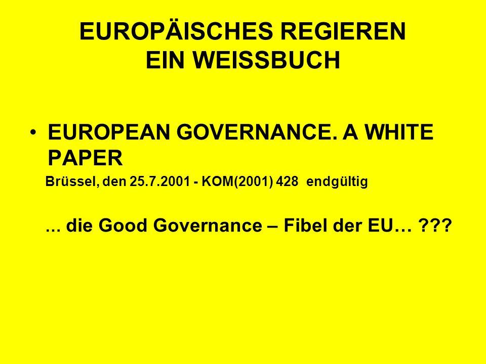 EUROPÄISCHES REGIEREN EIN WEISSBUCH