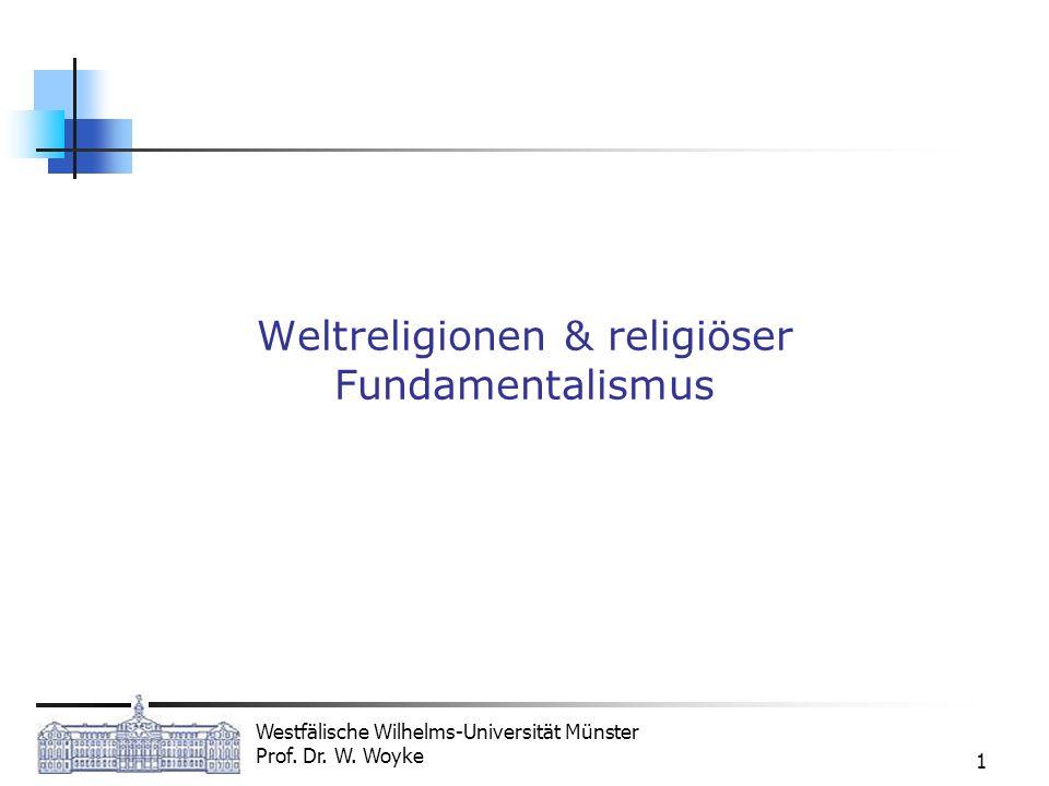 Weltreligionen & religiöser Fundamentalismus