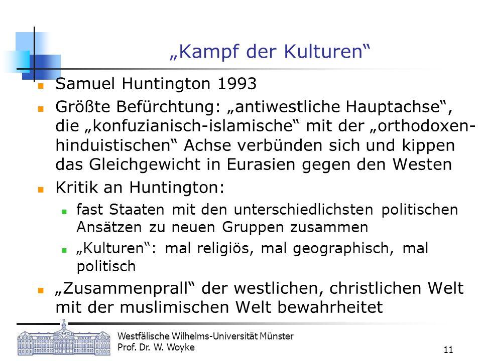 """Kampf der Kulturen Samuel Huntington 1993"